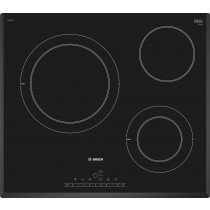 Bosch Serie 6 PKK651FP2E hobs Negro Built-in (placement) Cerámico 3 zona(s)