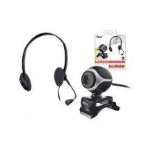 Trust Exis Chatpack cámara web 640 x 480 Pixeles Negro, Plata