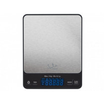 JATA Mod. 773 Negro, Plata Encimera Rectángulo Báscula electrónica de cocina