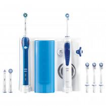 Oral-B PRO 2000 + Oxyjet Adulto Cepillo dental oscilante Azul, Blanco