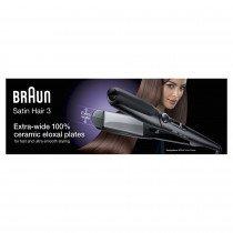 Braun Satin Hair 3 ST 310 Plancha de pelo Caliente Negro, Plata 2 m