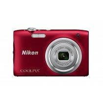 "Nikon COOLPIX A100, Case, Selfie stick Cámara compacta 20,1 MP CCD 5152 x 3864 Pixeles 1/2.3"" Rojo"