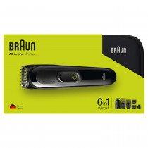 Braun Multigroomer 81703322 depiladora para la barba Negro, Verde