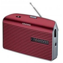 Grundig Music 60 radio Personal Analógica Rojo, Plata