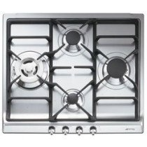 Smeg SER60SGH3 hobs Acero inoxidable Built-in (placement) Encimera de gas 4 zona(s)