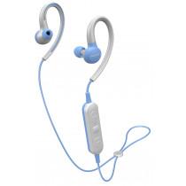 Pioneer E6 Auriculares gancho de oreja, Dentro de oído Bluetooth Azul, Blanco