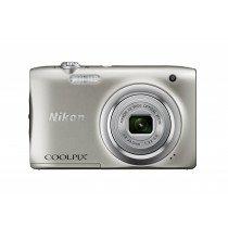 "Nikon COOLPIX A100, Case, Selfie stick Cámara compacta 20,1 MP CCD 5152 x 3864 Pixeles 1/2.3"" Plata"