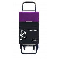 Rolser Termo Fresh MF Negro, Púrpura Bolsa para carrito de la compra