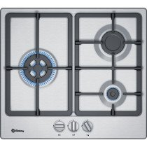 Balay 3ETX563HB hobs Acero inoxidable Integrado 60 cm Encimera de gas 3 zona(s)