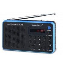 Sunstech Portable digital AM/FM radio Black Portátil Analógica Negro, Azul radio