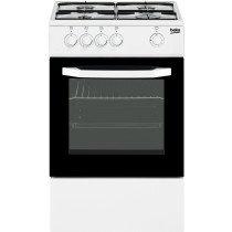Beko CSG 42010 DWN cocina Cocina independiente Negro, Blanco Encimera de gas