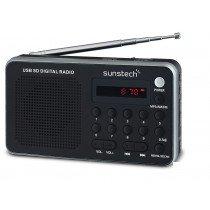 Sunstech Portable digital AM/FM silver radio Portátil Analógica Negro, Plata