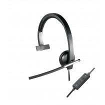Logitech USB Headset Mono H650e Auriculares Diadema Negro, Gris
