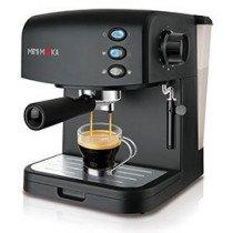 Minimoka CM-1695 Independiente Máquina espresso Negro 1,5 L 2 tazas Semi-automática
