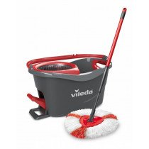 Vileda mop en steel Supermocio 3Action Lana Rojo, Color blanco fregona