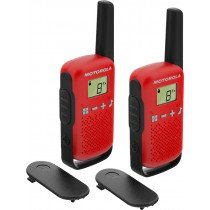 Motorola TALKABOUT T42 two-way radios 16 canales Negro, Rojo