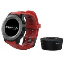 "Brigmton BWATCH-100GPS reloj inteligente IPS 3,3 cm (1.3"") Negro, Rojo GPS (satélite)"