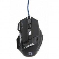 Catkil Alpha ratón USB Óptico 2400 DPI Ambidextro Negro