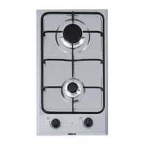Beko HDCG 32220 FX hobs Acero inoxidable Built-in (placement) Encimera de gas 2 zona(s)