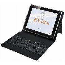 e-Vitta KeyTab USB teclado para móvil Español Negro