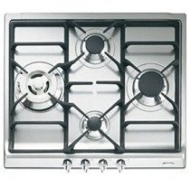 Smeg SR60GHS hobs Acero inoxidable Built-in (placement) Encimera de gas 4 zona(s)