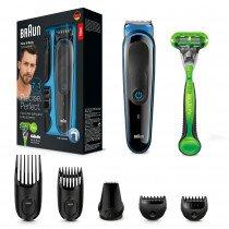 Braun Multigroomer 81681340 depiladora para la barba Mojado y seco Negro, Azul
