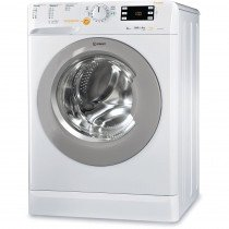 Indesit XWDE 861480X WSSS EU Carga frontal Freestanding (placement) Plata, Blanco A