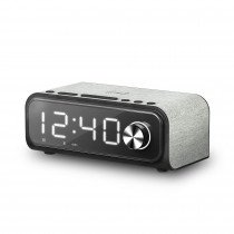 Energy Sistem Clock Speaker 4 Reloj despertador digital Negro, Gris