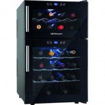 Orbegozo VT 2410 enfriador de vino Freestanding (placement) Negro 24 botella(s) Nevera de vino termoeléctrico D