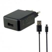 Ksix CARGADOR DE RED USB 2A + CABLE MICRO USB - USB 1 METRO NEGRO
