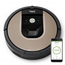 iRobot Roomba 966 aspiradora robotizada Sin bolsa Negro, Plata 0,6 L