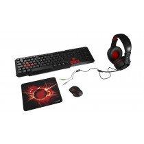 Mars Gaming MACP1 teclado USB QWERTY Español Rojo