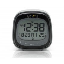 Explore Scientific RDC3006 despertador Reloj despertador digital Negro, Gris