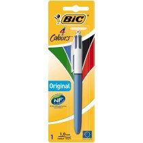 BIC 802077 Bolígrafo retráctil con clip Negro, Azul, Verde, Rojo 1pieza(s)