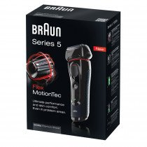 Braun Series 5 5030S Máquina de afeitar de láminas Recortadora Negro, Rojo