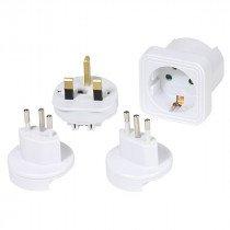 Vivanco 36217 adaptador de enchufe eléctrico Universal Blanco