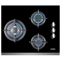 SVAN SVEC3BF hobs Negro Built-in (placement) Encimera de gas 3 zona(s)