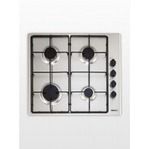 Beko HIZG 64101 SX hobs Acero inoxidable Built-in (placement) Encimera de gas 4 zona(s)
