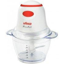 Ufesa PD5325 picadora eléctrica de alimentos 0,5 L Rojo, Transparente, Blanco