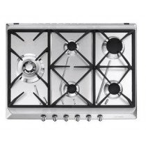 Smeg SRV575GH5 hobs Acero inoxidable Built-in (placement) Encimera de gas 5 zona(s)