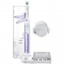 Oral-B Genius 80326454 cepillo eléctrico para dientes Adulto Cepillo dental oscilante Púrpura, Blanco