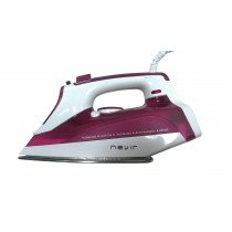 Nevir NVR-3581PA plancha Plancha a vapor Suela de acero inoxidable Cereza, Blanco 2600 W