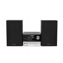 Grundig M1000BT2 sistema de audio para el hogar Microcadena de música para uso doméstico 30 W Negro, Plata