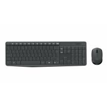 Logitech MK235 teclado RF inalámbrico QWERTY Internacional de EE.UU. Gris