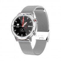 """InnJoo IJ-VOOM CLASSIC-SLV smartwatch IPS 3,3 cm (1.3"""") 32 mm Acero inoxidable"""