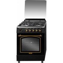 SVAN SVK6601RN cocina Cocina independiente Negro Encimera de gas B