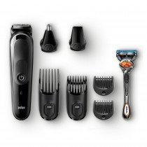 Braun Multigroomer MGK5060 depiladora para la barba Negro, Gris