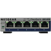 Netgear GS105E-200PES switch Gestionado L2/L3 Gigabit Ethernet (10/100/1000) Gris
