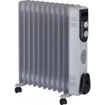 JATA R111 Interior Gris 2500 W Radiador de aceite eléctrico