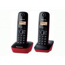 Panasonic KX-TG1612 Teléfono DECT Negro, Rojo Identificador de llamadas